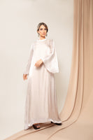 Pearled Champaign Soft Touch Dress