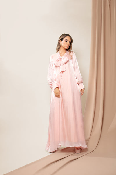 Pink Bow Tie Soft Touch Dress