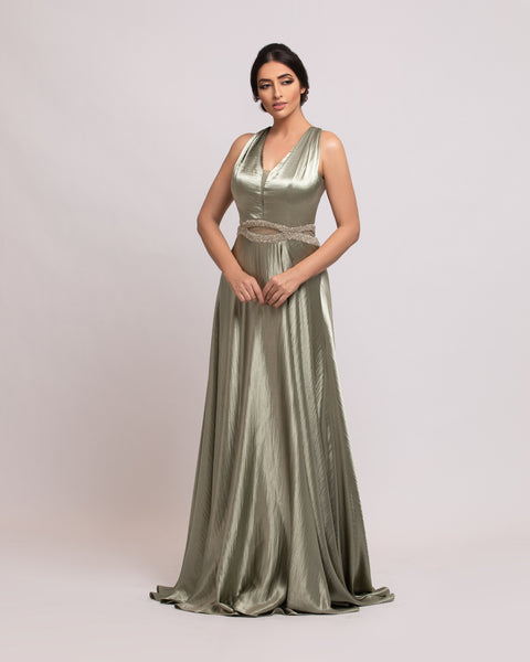 Simple Prom Unique Back Straps Dress
