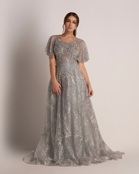 Cinderella Dress Crystal Gray