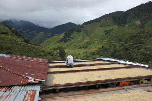 Sliding rooftop drying in Tolima, Colombia.