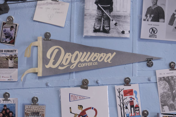 Gray + Cream Dogwood Coffee Pennant