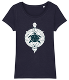 100% Organic Women Navy Scoop T-Shirt