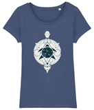 100% Organic Women Indigo Scoop T-Shirt