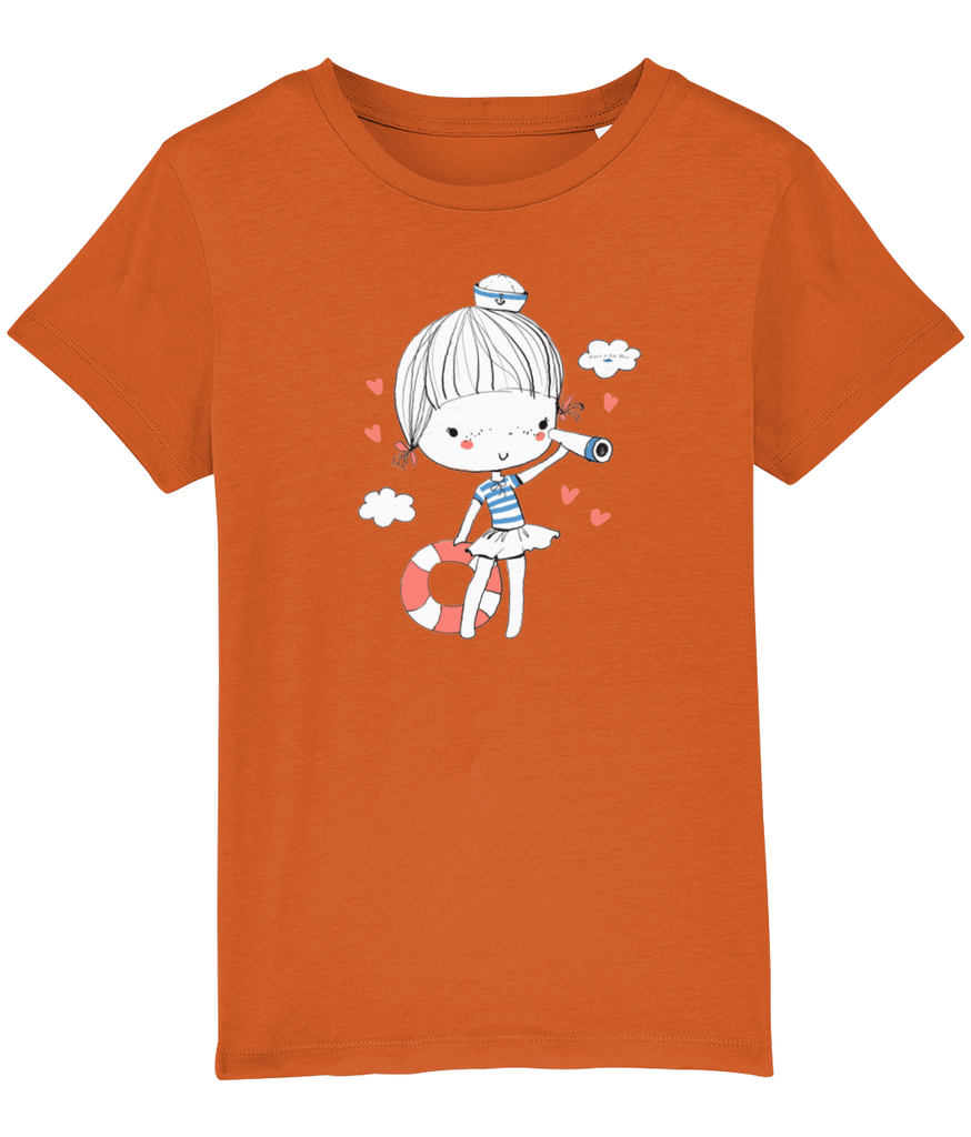 100% Organic Cotton | Bright Orange Kids T-Shirt