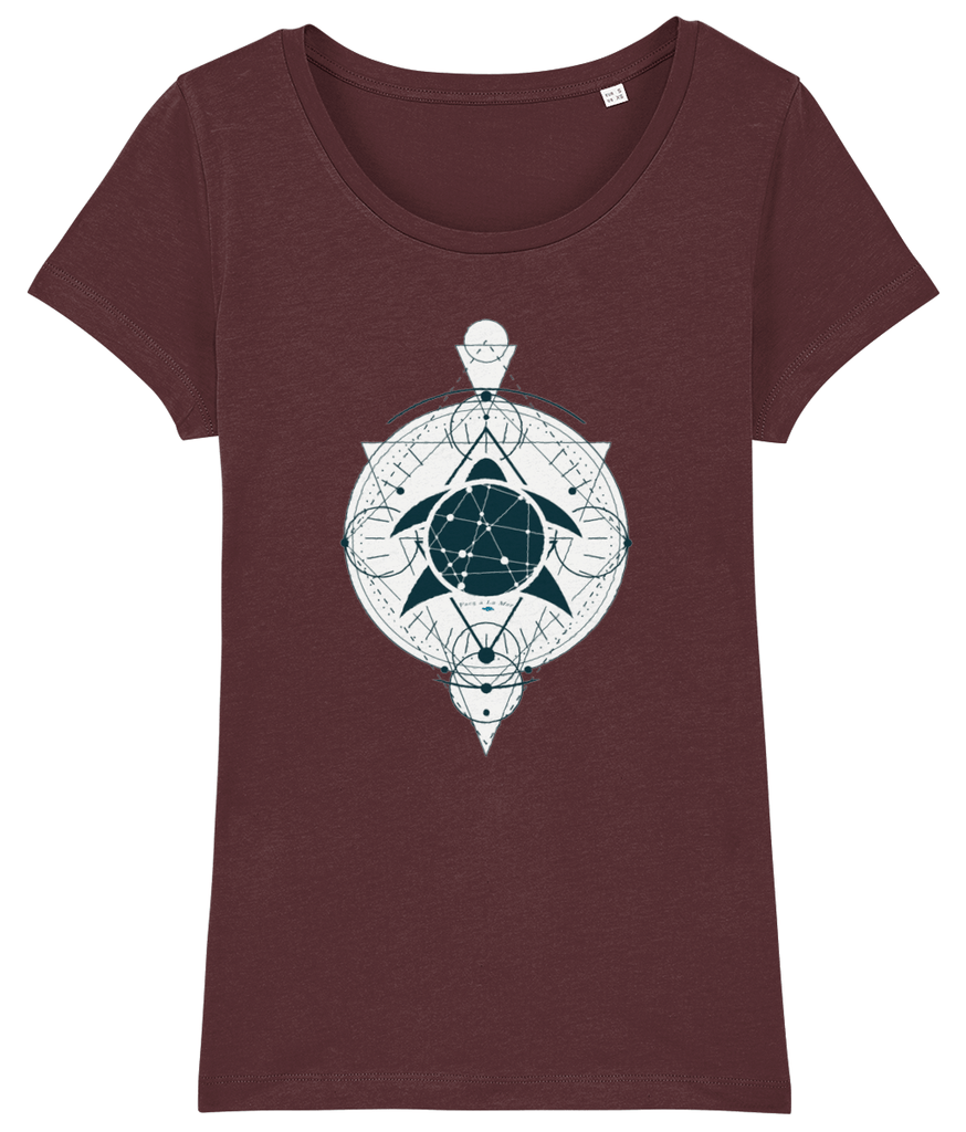 100% Organic Women Burgundy Scoop T-Shirt