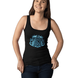 Women Organic Black Fitted Tank Top