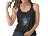 Women 100% Organic Black Racerback Top