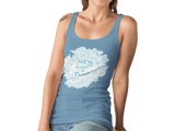 Women Carbon Neutral Mid Heather Blue Organic T-Shirt