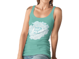 Women Carbon Neutral Mid Heather Green Organic T-Shirt