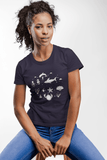 Women Carbon Neutral Navy Organic T-Shirt