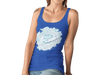Women Carbon Neutral Royal Blue Organic T-Shirt