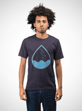 Men Carbon Neutral Navy Organic T-Shirt