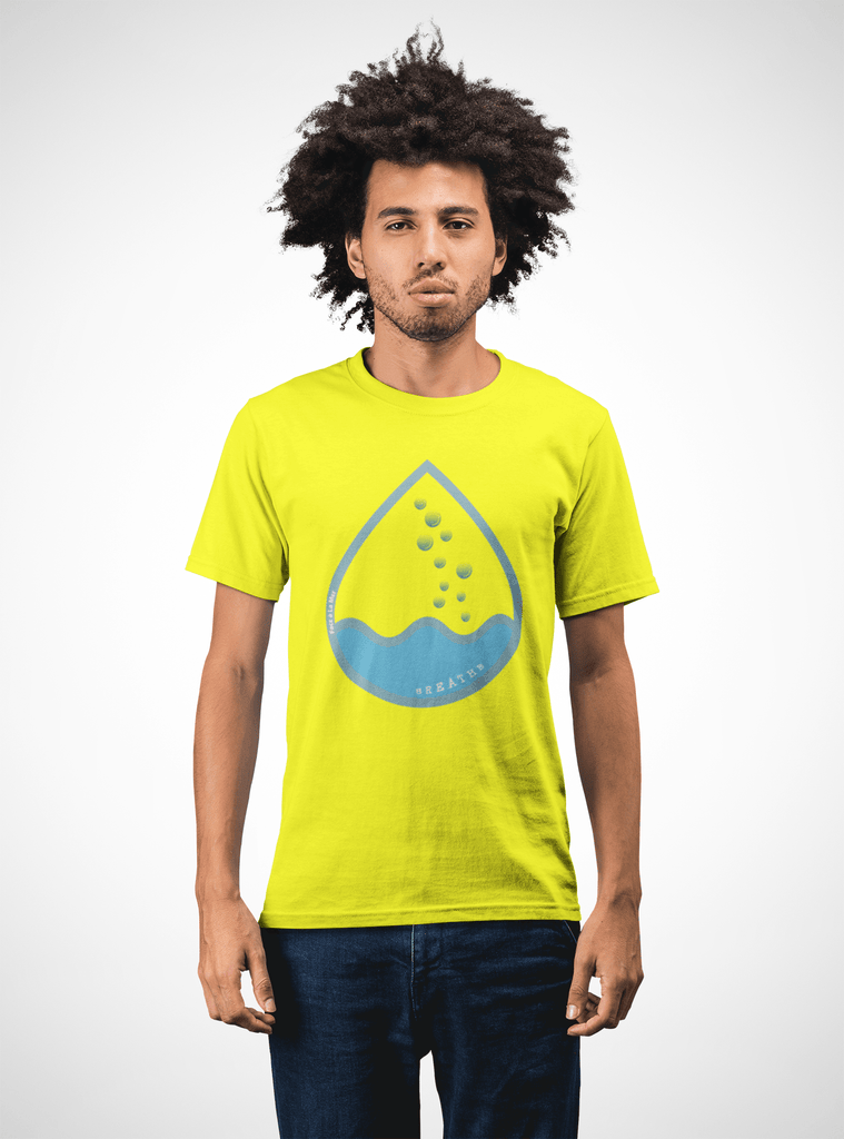 Men Carbon Neutral Yellow Organic T-Shirt