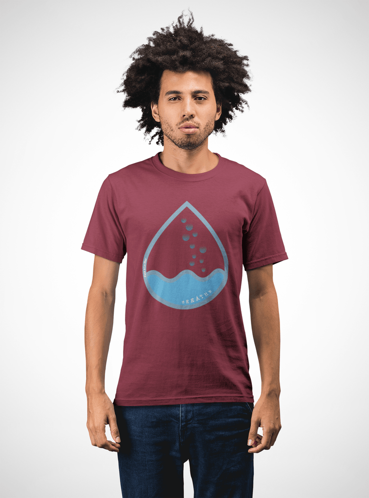 Men Carbon Neutral Burgundy Organic T-Shirt