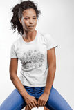 Women Carbon Neutral White Organic T-Shirt