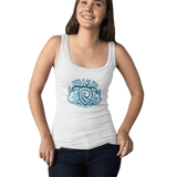 Women Organic White Fitted Tank Top