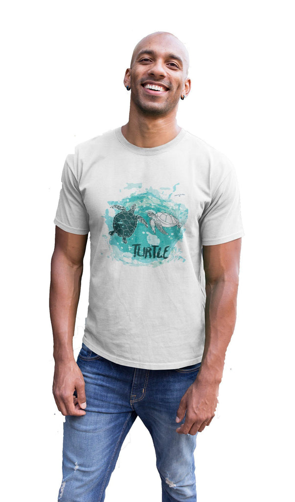 Organic EarthPositive Twin Turtles Slim Fit T-shirt