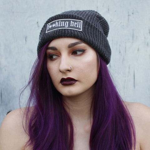 F**KING HELL - Distressed Beanie