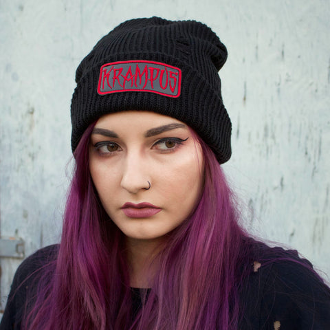 KRAMPUS - Distressed Beanie