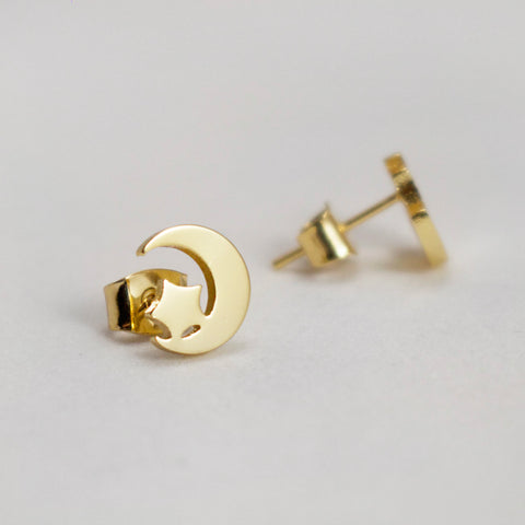 IN THE NAME OF THE MOON - Gold Earrings