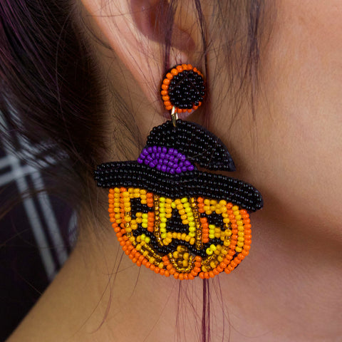 MISS PUMPKIN - Beaded Earrings