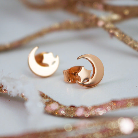 IN THE NAME OF THE MOON - Rose Gold Earrings