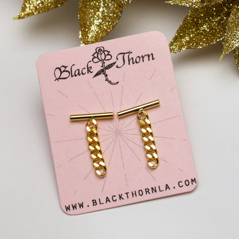 LINKED - Gold Stud Earrings