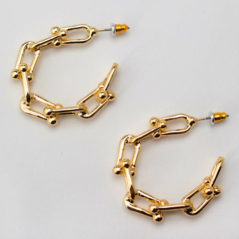 LINKED TO YOU - Hoop Earrings