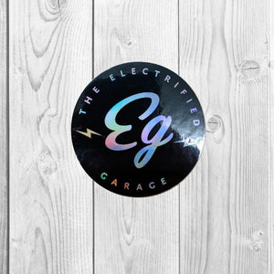 The Electrified Garage Holographic Decal - EV Origins