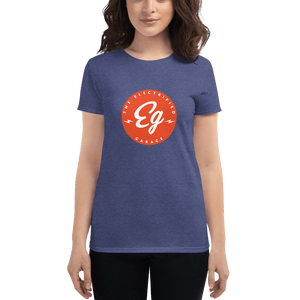 The Electrified Garage Emblem Women's Short Sleeve T-shirt - EV Origins