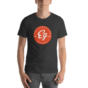 The Electrified Garage Emblem Short Sleeve Unisex T-Shirt - EV Origins