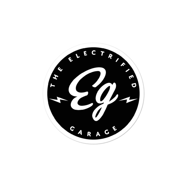 The Electrified Garage Sticker - EV Origins