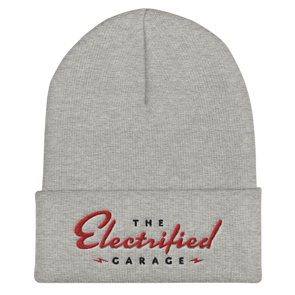 The Electrified Garage Cuffed Beanie - EV Origins