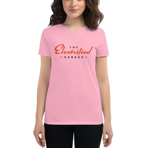 The Electrified Garage Logo Women's Short Sleeve T-shirt - EV Origins