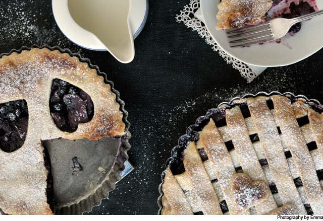 Blackcurrant and Apple Pies