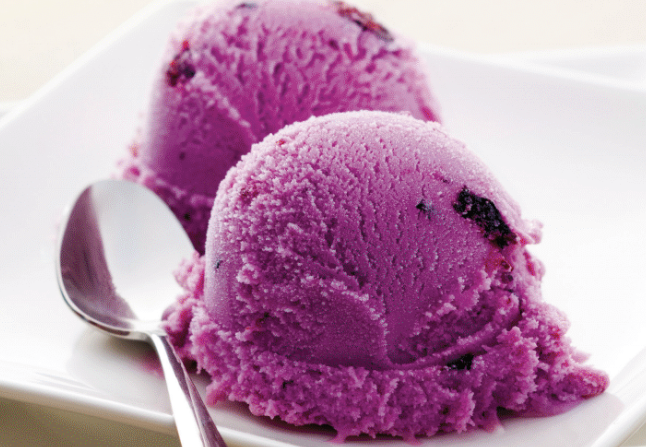 Homemade Blackcurrant Ice Cream