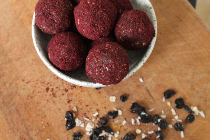 Cacao & Blackcurrant Bliss Balls