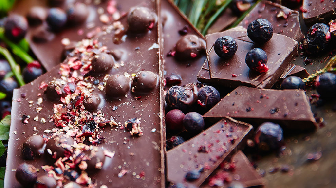 Blackcurrant and Chocolate Bark