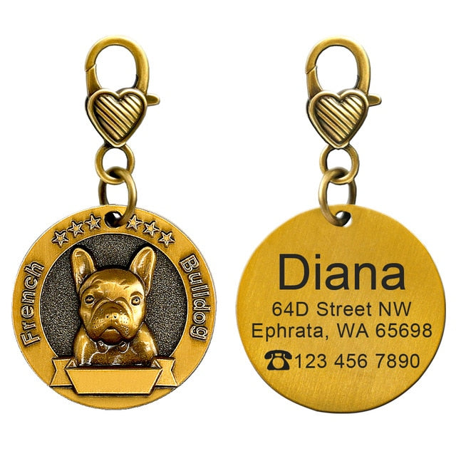Dog ID Tag  - Engraving Customization