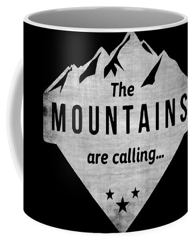 The Mts Are Calling White - Mug