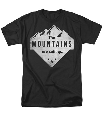 The Mts Are Calling White - Men's T-Shirt  (Regular Fit)