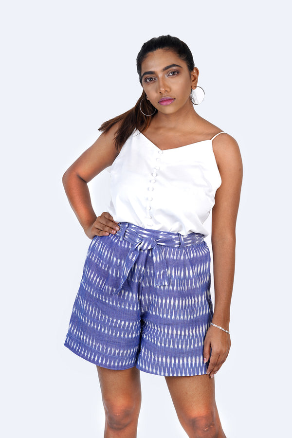 Blue Ikat Shorts