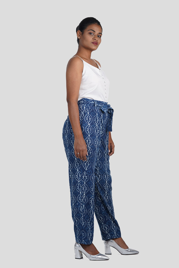 Indigo Katha Trouser with Sash