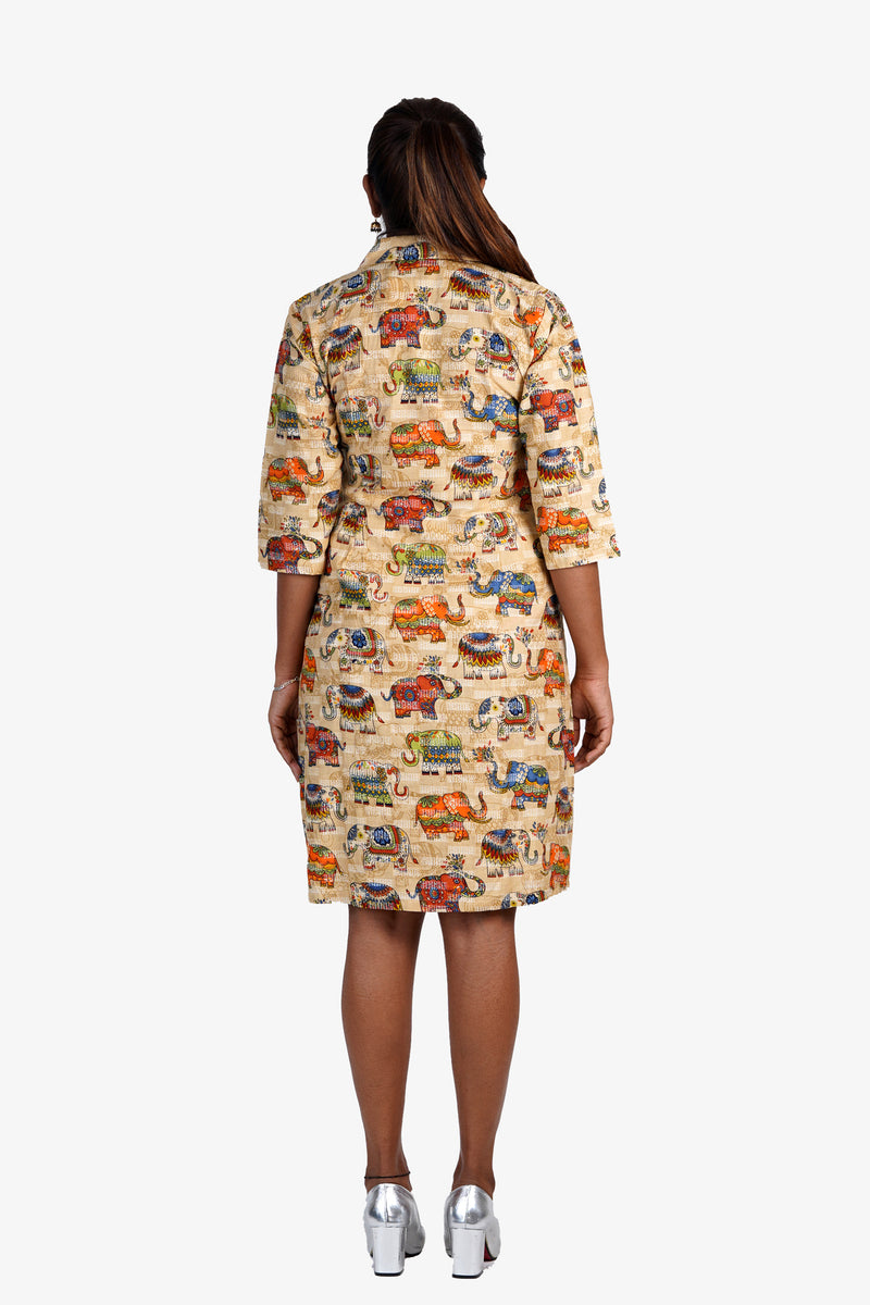 Elephant Katha Shirt Dress