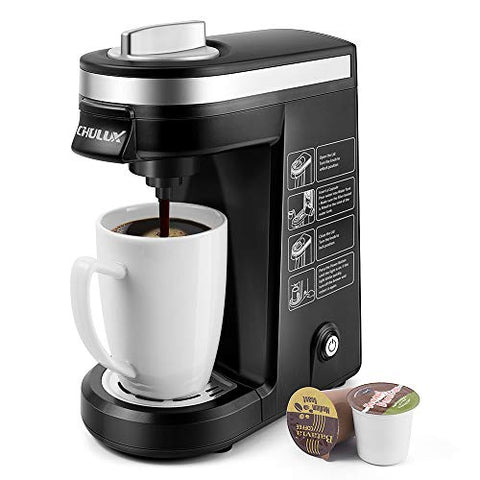 CHULUX Single Serve Coffee Maker Brewer for Single Cup Capsule - al-qahwa
