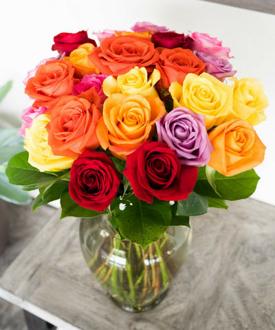 Two Dozen Mixed Color Roses - al-qahwa