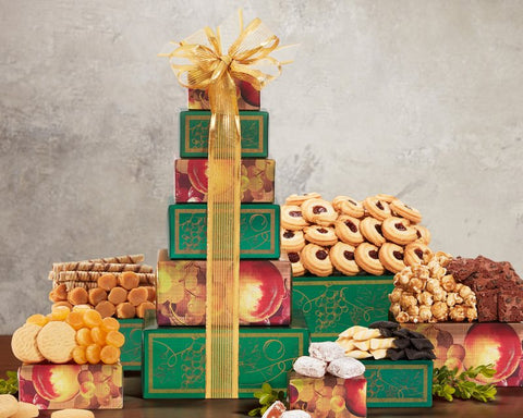 Tower of Sweets by Wine Country Gift Baskets - al-qahwa