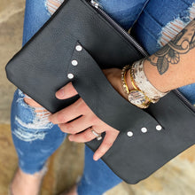 The Raleigh Leather Clutch - BLACK