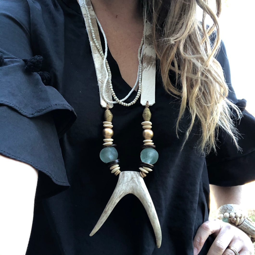 The Huntress Antler Statement Necklace